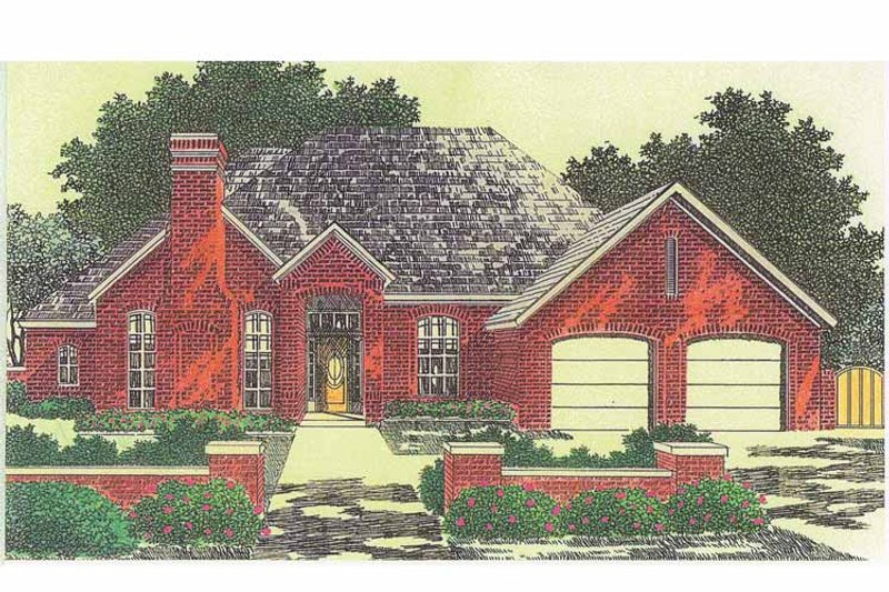 European Exterior - Front Elevation Plan #310-1210