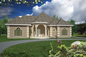 Architectural House Design - Mediterranean Exterior - Front Elevation Plan #1061-1