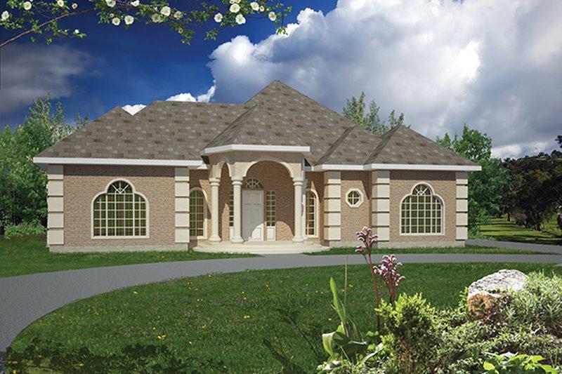 Architectural House Design - Mediterranean Exterior - Front Elevation Plan #1061-1