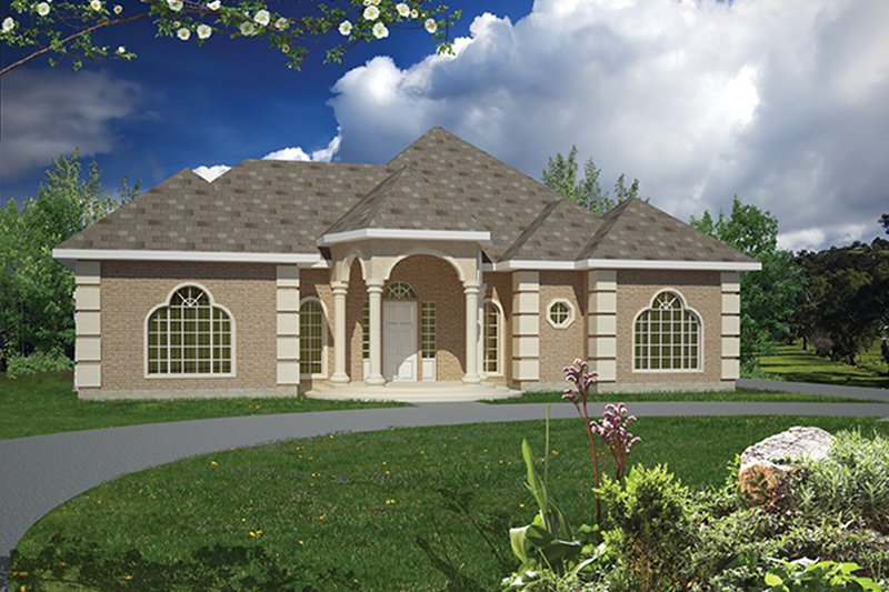 Mediterranean Exterior - Front Elevation Plan #1061-1