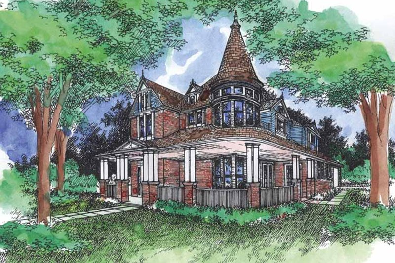 Victorian Exterior - Front Elevation Plan #320-919