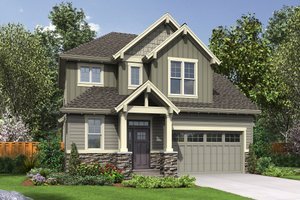 Craftsman Exterior - Front Elevation Plan #48-660
