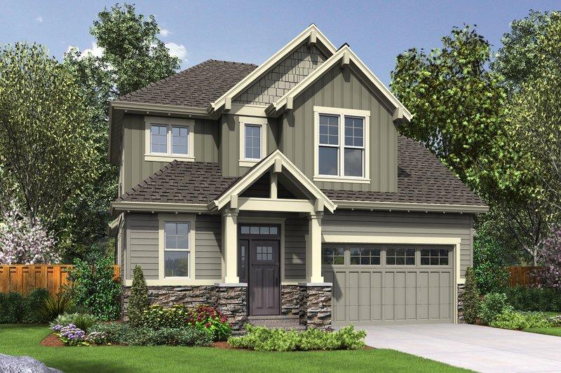 Architectural House Design - Craftsman Exterior - Front Elevation Plan #48-660