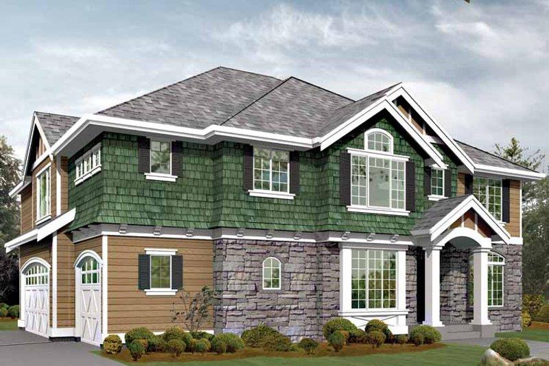 Craftsman Exterior - Front Elevation Plan #132-446 - Houseplans.com