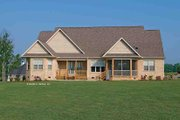 Craftsman Style House Plan - 4 Beds 4 Baths 2613 Sq/Ft Plan #929-905 Exterior - Rear Elevation