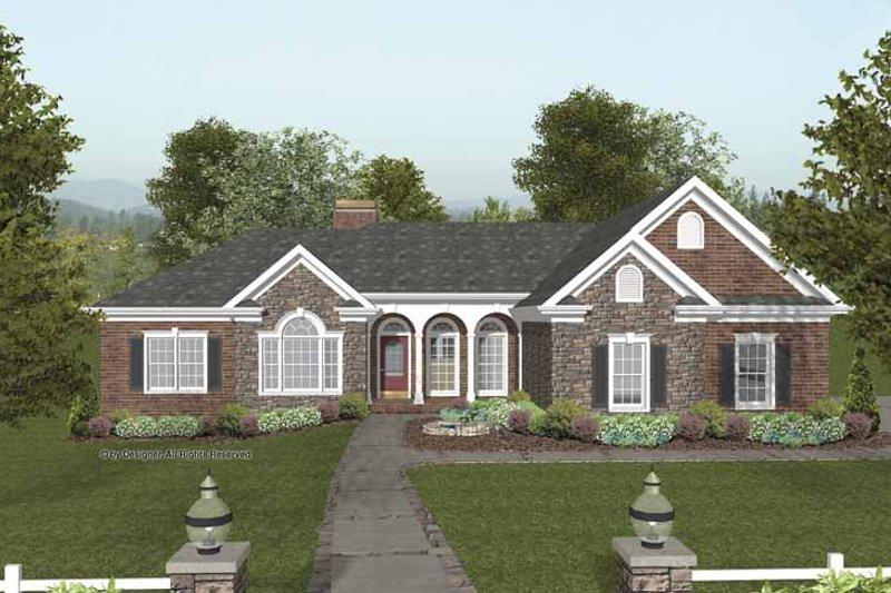 Craftsman Exterior - Front Elevation Plan #56-682