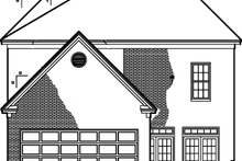 Classical Exterior - Rear Elevation Plan #1047-39