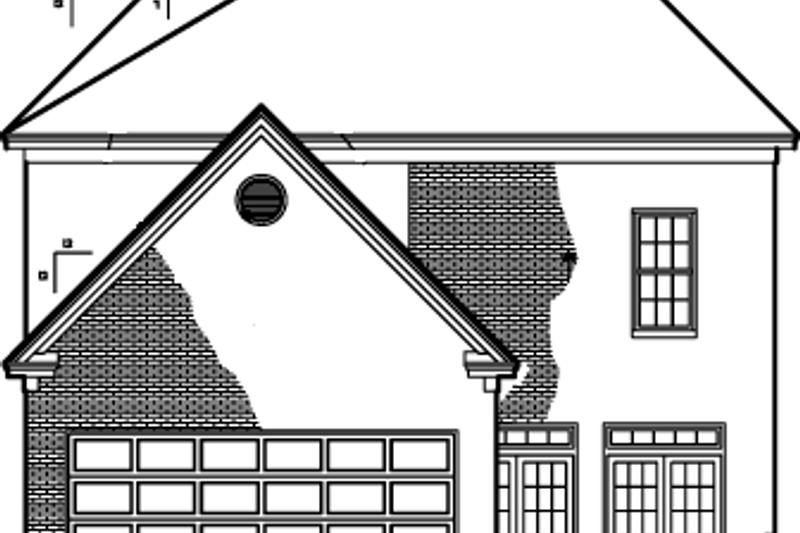 Classical Exterior - Rear Elevation Plan #1047-39 - Houseplans.com