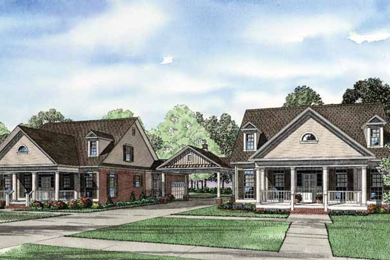 Country Exterior - Front Elevation Plan #17-2820