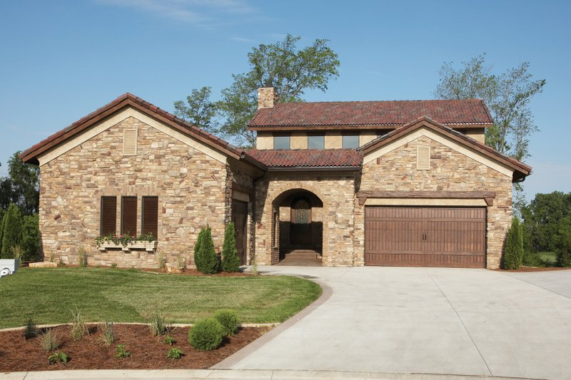 Tuscan style, European design, elevation