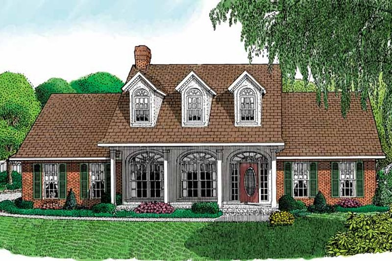 Victorian Exterior - Front Elevation Plan #11-242