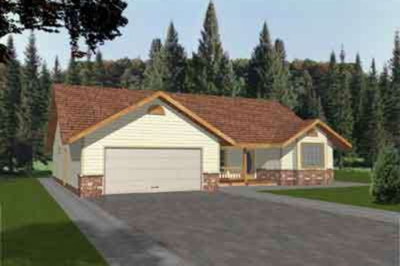 Dream House Plan - Ranch Exterior - Front Elevation Plan #117-191