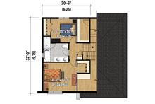 Contemporary Floor Plan - Upper Floor Plan Plan #25-4283