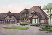 Country Style House Plan - 3 Beds 3.5 Baths 3698 Sq/Ft Plan #928-269 Exterior - Front Elevation