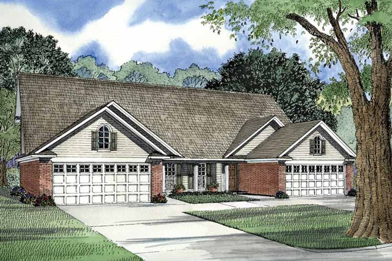 Dream House Plan - Country Exterior - Front Elevation Plan #17-2974