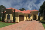 Mediterranean Style House Plan - 2 Beds 2.5 Baths 1790 Sq/Ft Plan #930-430 Exterior - Front Elevation