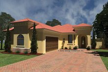 Mediterranean Exterior - Front Elevation Plan #930-430
