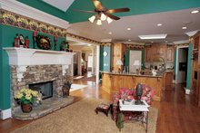 House Plan Design - Colonial Interior - Family Room Plan #54-184