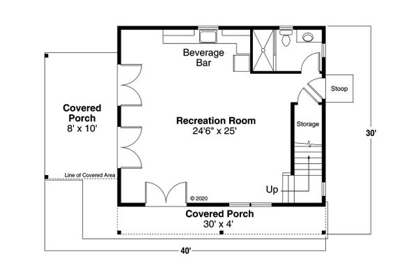 House Plan Design - Cottage Floor Plan - Main Floor Plan #124-1223
