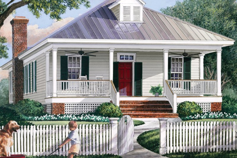 Country Exterior - Front Elevation Plan #137-365 - Houseplans.com
