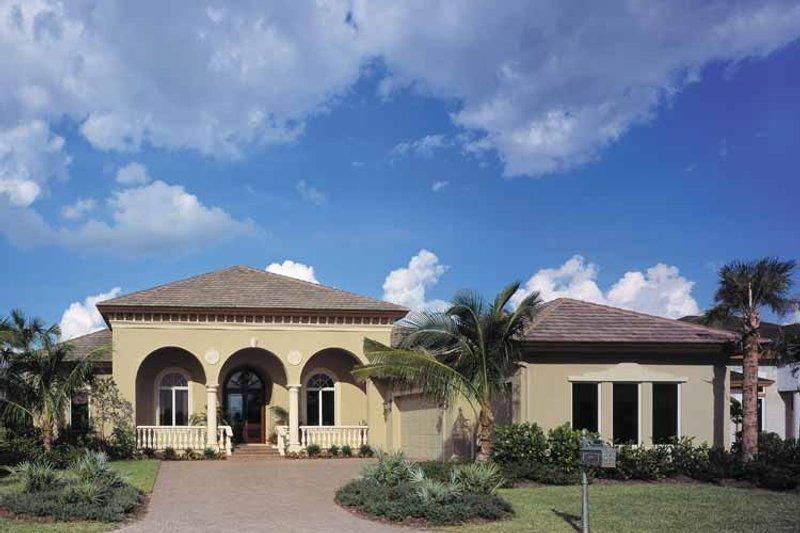 Architectural House Design - Mediterranean Exterior - Front Elevation Plan #930-324