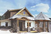 Traditional Style House Plan - 2 Beds 1 Baths 1312 Sq/Ft Plan #1042-8 Exterior - Other Elevation