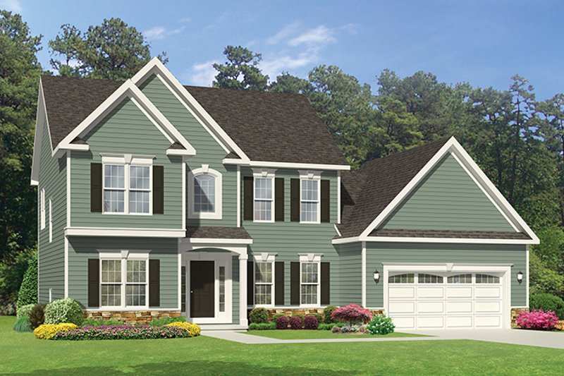 Architectural House Design - Traditional Exterior - Front Elevation Plan #1010-119