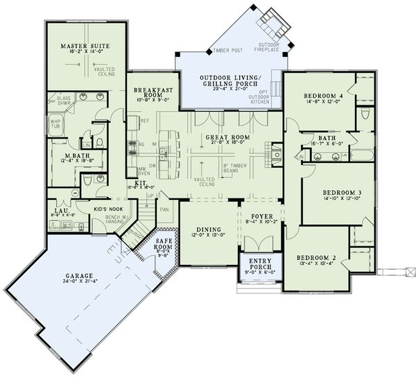 European Floor Plan - Main Floor Plan Plan #17-2523