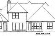 European Style House Plan - 4 Beds 4.5 Baths 3652 Sq/Ft Plan #52-186 Exterior - Rear Elevation