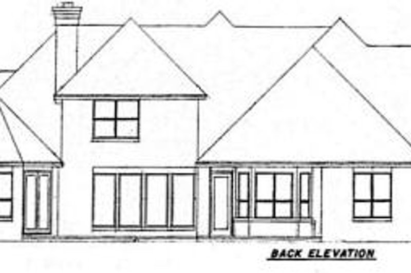 European Exterior - Rear Elevation Plan #52-186 - Houseplans.com