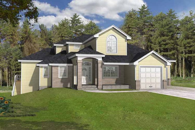 Traditional Exterior - Front Elevation Plan #1037-8 - Houseplans.com