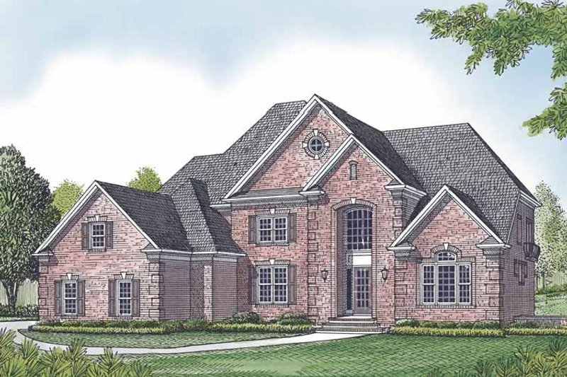 Traditional Exterior - Front Elevation Plan #453-602 - Houseplans.com