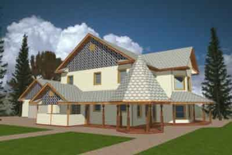 Country Exterior - Front Elevation Plan #117-176 - Houseplans.com