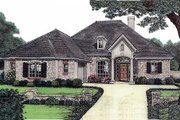 European Style House Plan - 3 Beds 2 Baths 1736 Sq/Ft Plan #310-576 Exterior - Front Elevation