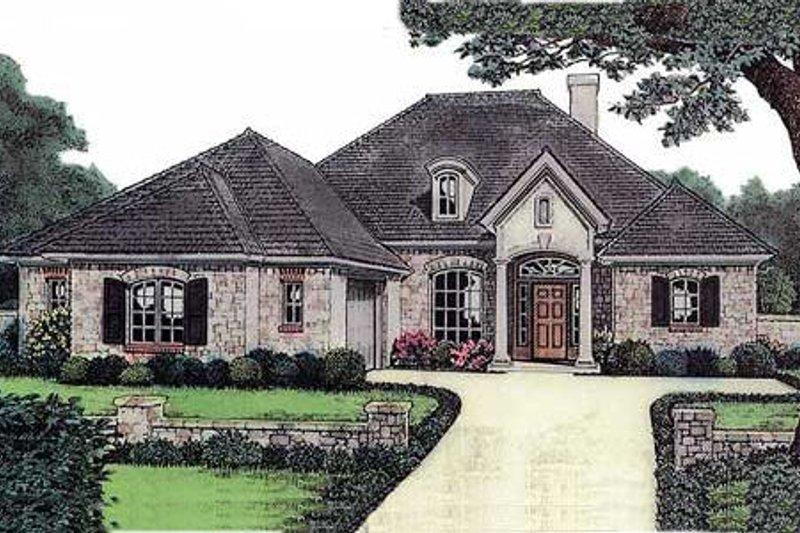 European Style House Plan - 3 Beds 2 Baths 1736 Sq/Ft Plan #310-576
