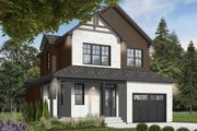 Country Style House Plan - 3 Beds 1.5 Baths 1347 Sq/Ft Plan #23-2119 Exterior - Front Elevation