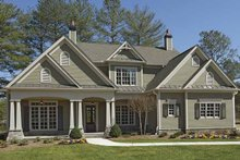 Dream House Plan - Craftsman Exterior - Front Elevation Plan #54-296