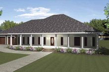Country Exterior - Front Elevation Plan #44-212