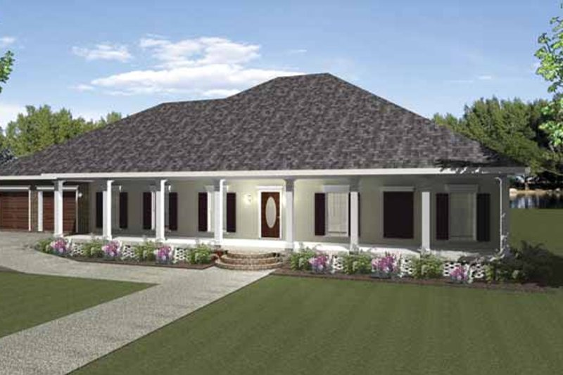 Architectural House Design - Country Exterior - Front Elevation Plan #44-212