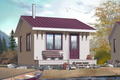 Cottage Style House Plan - 1 Beds 1 Baths 320 Sq/Ft Plan #23-2287 Exterior - Front Elevation
