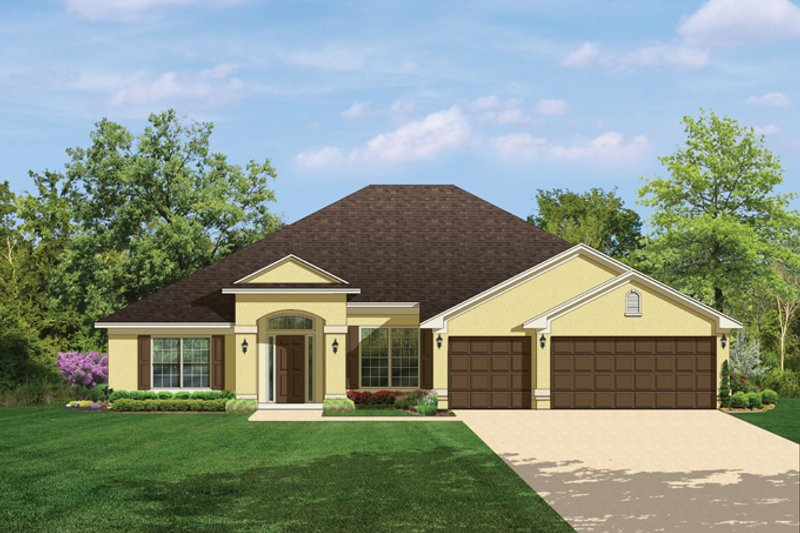 Traditional Exterior - Front Elevation Plan #1058-49 - Houseplans.com