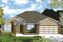 House Plan Design - Mediterranean Exterior - Front Elevation Plan #417-840