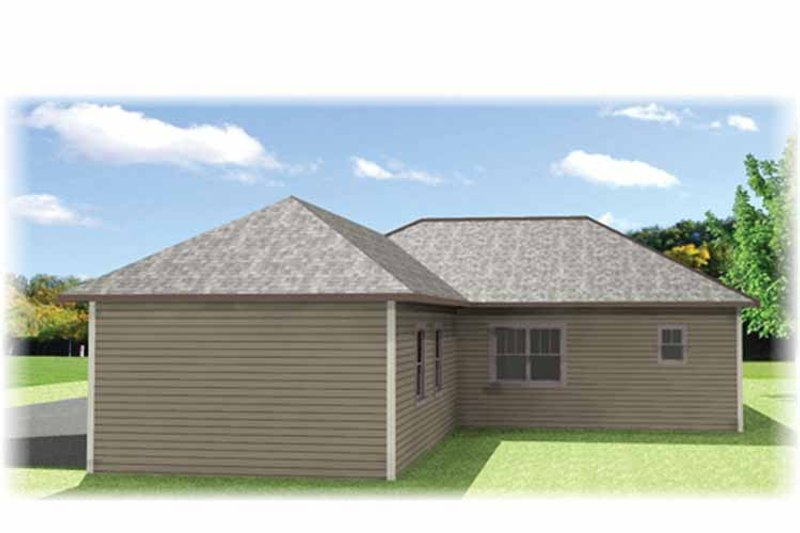 Craftsman Exterior - Rear Elevation Plan #44-218 - Houseplans.com