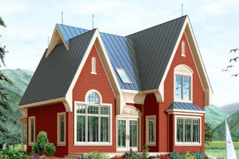 House Plan Design - European Exterior - Front Elevation Plan #23-390