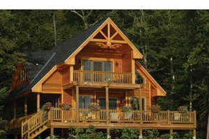 Dream House Plan - Traditional Exterior - Rear Elevation Plan #118-145