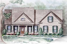 Architectural House Design - Craftsman Exterior - Front Elevation Plan #54-235