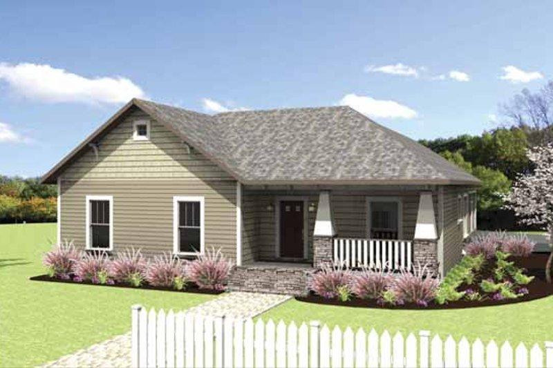 Dream House Plan - Craftsman Exterior - Front Elevation Plan #44-218
