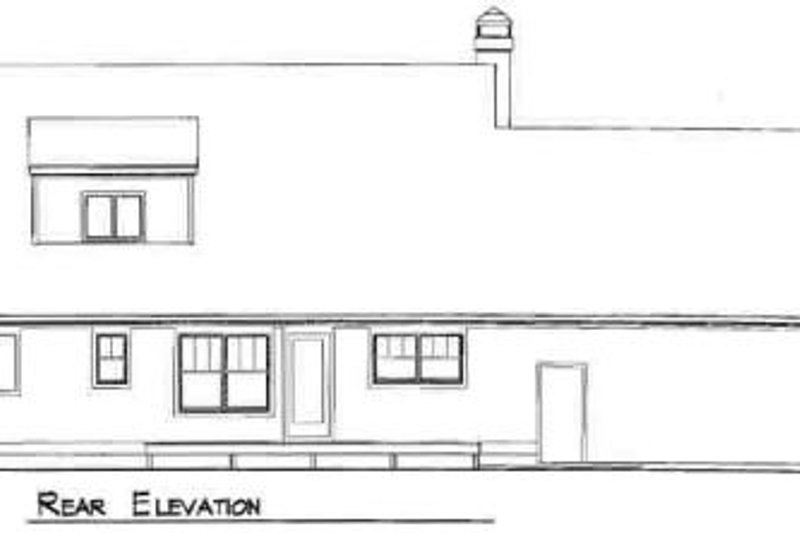 Country Exterior - Rear Elevation Plan #41-129 - Houseplans.com