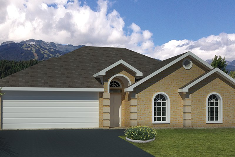 Adobe / Southwestern Exterior - Front Elevation Plan #1061-21 - Houseplans.com