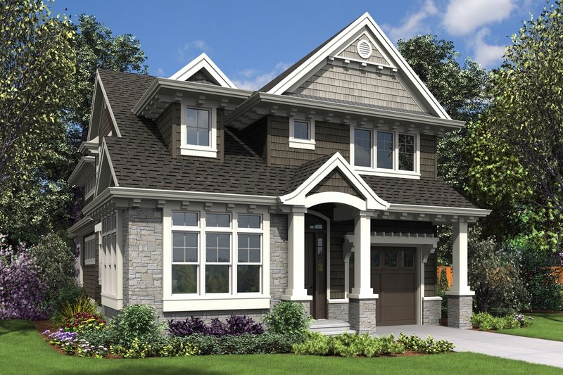 Craftsman Exterior - Front Elevation Plan #48-1007